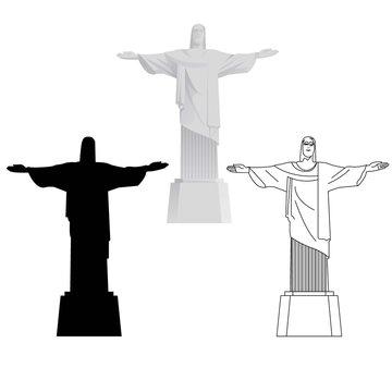 CRISTO REDENTOR. Rio de Janeiro. Brasil historic places of america.