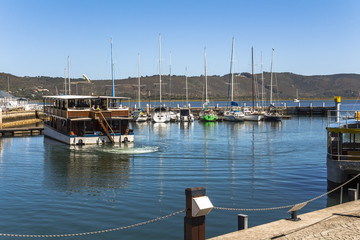Harbour on pier of Knysna, Garden Route, South Africa