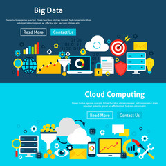 Big Data Analysis Website Banners