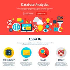 Database Analytics Website Design