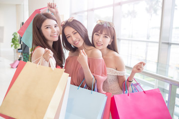 beauty women in mall