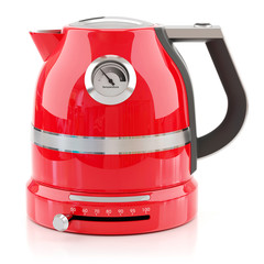 Red electrical modern kettle