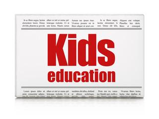 Learning concept: newspaper headline Kids Education