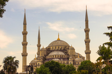 Blue Mosque in Sultanahmet in Istanbul, Turkey