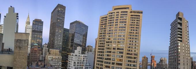Wall Mural - Amazing panoramic aerial view of Manhattan skyline