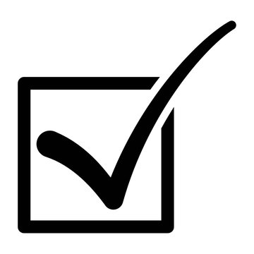 Checkbox tick symbol flat