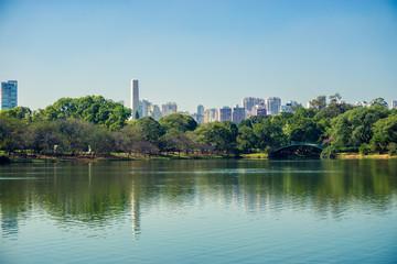 Ibirapuera Park, tourist point of the city of Sao Paulo, Brazil.