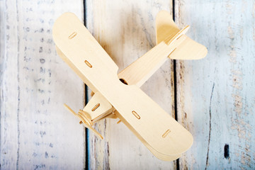 Wooden airplane mode
