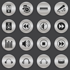 Set Of 16 Editable Melody Icons. Includes Symbols Such As Sound Controlling, Break Music, Silent And More. Can Be Used For Web, Mobile, UI And Infographic Design.