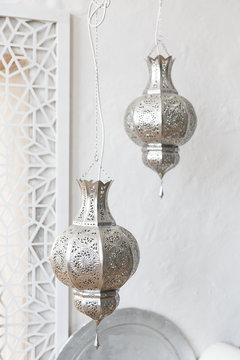Eastern traditional lamp. Arabic style lantern
