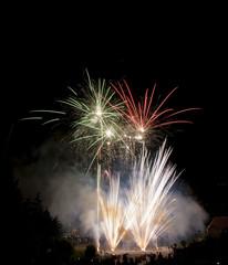 Beautiful fireworks illuminate the sky_32