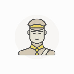 Customs inspector or officer icon