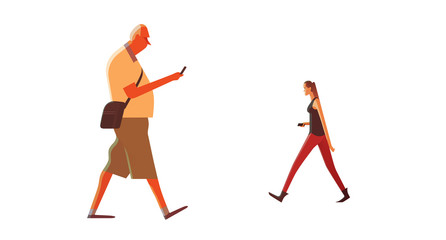 Walking with Cellphones
