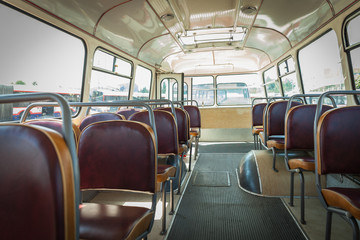 Historically bus in the depot, transport from 80 years