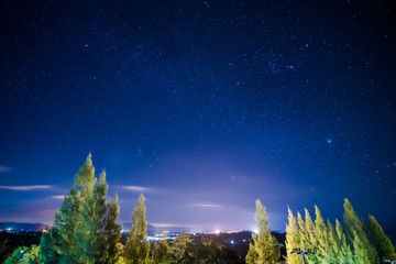 Blue night sky with star.Space background