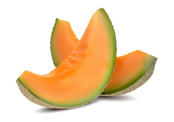 3D slices of melon, summer concept