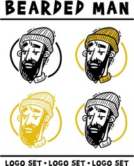Man bearded set