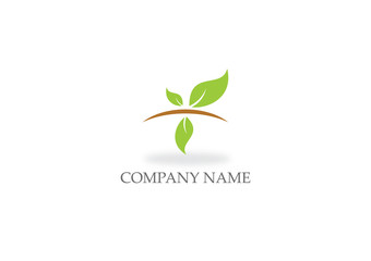 green leaf organic nature logo
