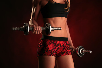 perfect female athletic body