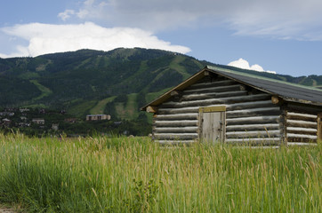 Steamboat Springs Cabin and Ski Slopes in Summer