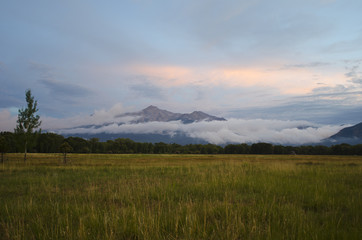 Mount Princeton Emerges From Rain Clouds