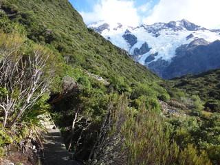 Mueller Hut track, Mount Cook, New Zealand