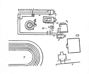 Site plan of Sanctuary of Asklepios, Epidaurus, Greece
