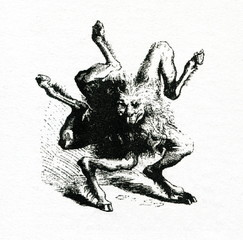 Demon Buer (Illustration by Louis Breton from Dictionnaire Infernal, 1863)