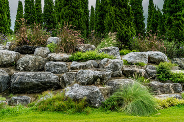 Rock garden in the park