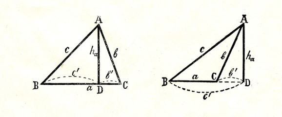 Calculation of triangle altitude