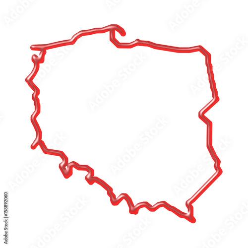 Mapa Polski Kontury Obrazów Stockowych I Plików Wektorowych