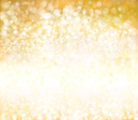 Vector bokeh, sparkle, golden background.