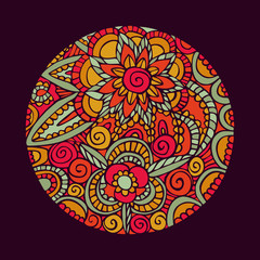 Flower mandala art nature decoration illustration