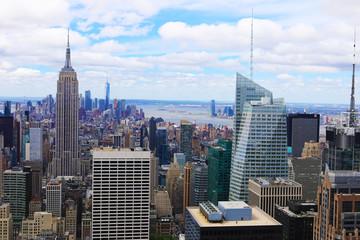 Photo sur Aluminium New York Midtown Manhattan on a beautiful day