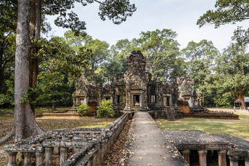 ruins of the Chau Say Tevoda Temple, Angkor, Cambodia.