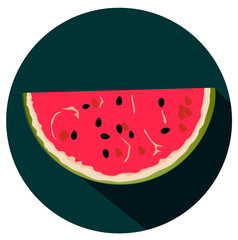 water-melon flat design icon vector eps 10