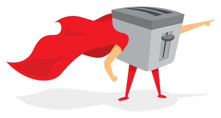 Supert toaster hero with cape