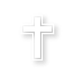 Icon mit Schatten - Kreuz Religion