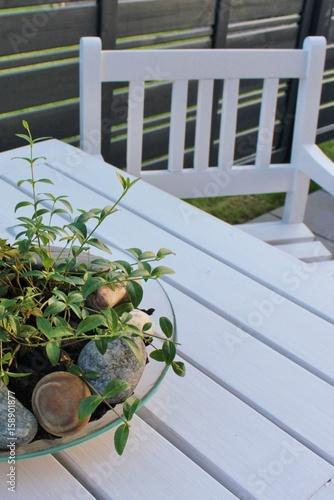 Wooden White Garden Furniture In Scandinavian Design