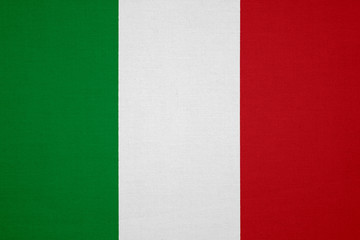 Italy flag with fabric texture