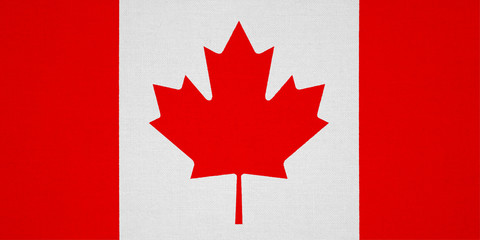 Canada flag with fabric texture