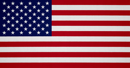 USA flag with fabric texture