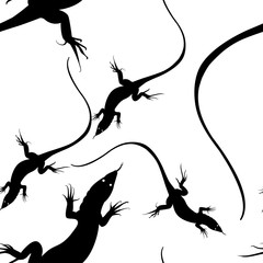 Pattern with a lizard. Vector image