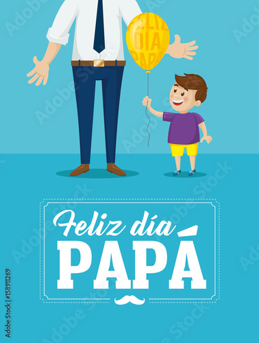 happy father s day card message in spanish feliz día papá stock