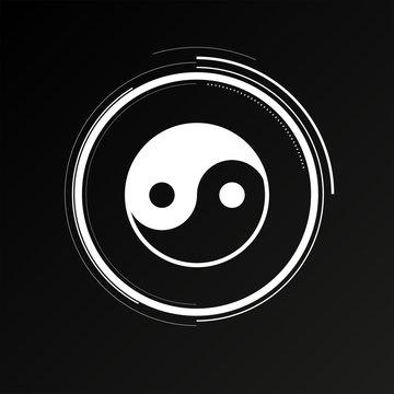 Future Button - Yin-Yang