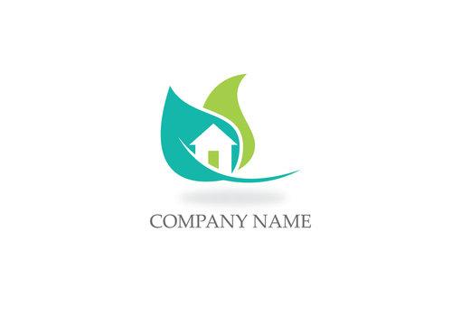 house green leaf ecology logo