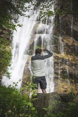 Photographer and the waterfall