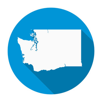 Washington State Map Flat Icon