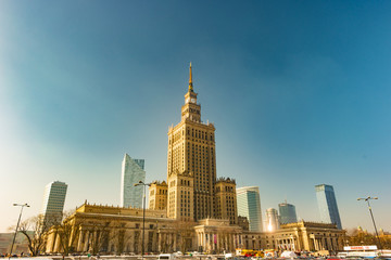 Warsaw Palace of Culture and Science is the city's most visible landmark and tallest building in Poland