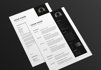 Angular Resume and Cover Letter Layout